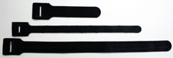 Hook and Loop Cable ties in color black or moss green